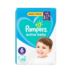 Pampers Active Baby Maxi Pack No6 13-18Kg 44Τμχ.