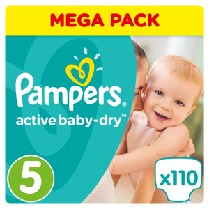 Pampers active baby dry no5 110s