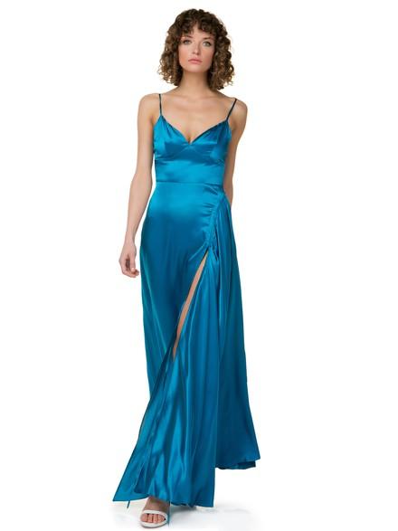 5eab3e0a6fa Φόρεμα σε όψη σατέν