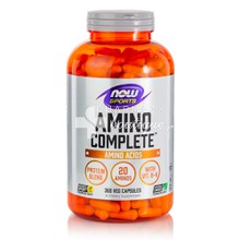 Now Sports Amino Complete 750mg - Αμινοξέα, 360 caps