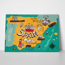 Illustrated map spain 383523706 a