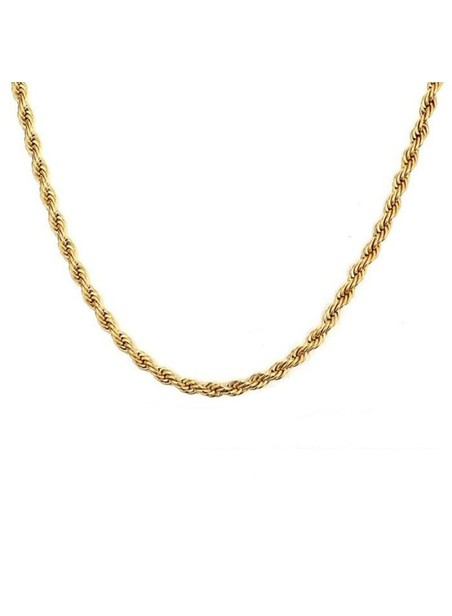 MILLIONALS ROPE STAINLESS STEEL CHAIN GOLD