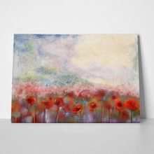 Watercolor red poppy flowers filed painting flower 247037536 a