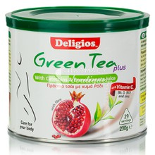 Deligios GREEN TEA PLUS με Ρόδι, 230gr