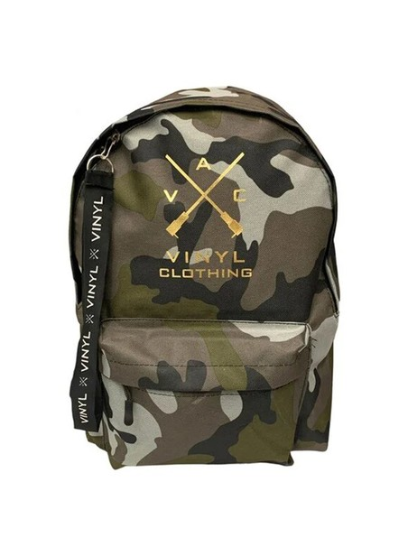 VINYL ART CLOTHING CAMO BACKPACK