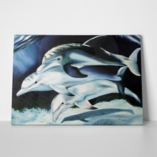 Dolphins underwater oil painting 394293043 a