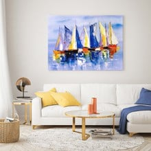 Sailboats on calm waters