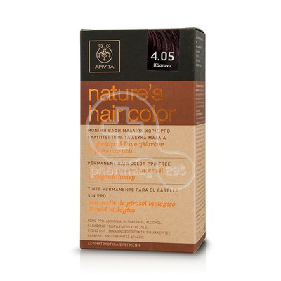 APIVITA - NATURE'S HAIR COLOR N4.05 Κάστανο
