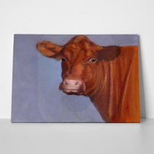 Beef cow oil pastel painting 146955869 a
