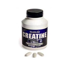 Health Aid Creatine Monohydrate Συμπλήρωμα Διατροφής 1000mg 60tabs.