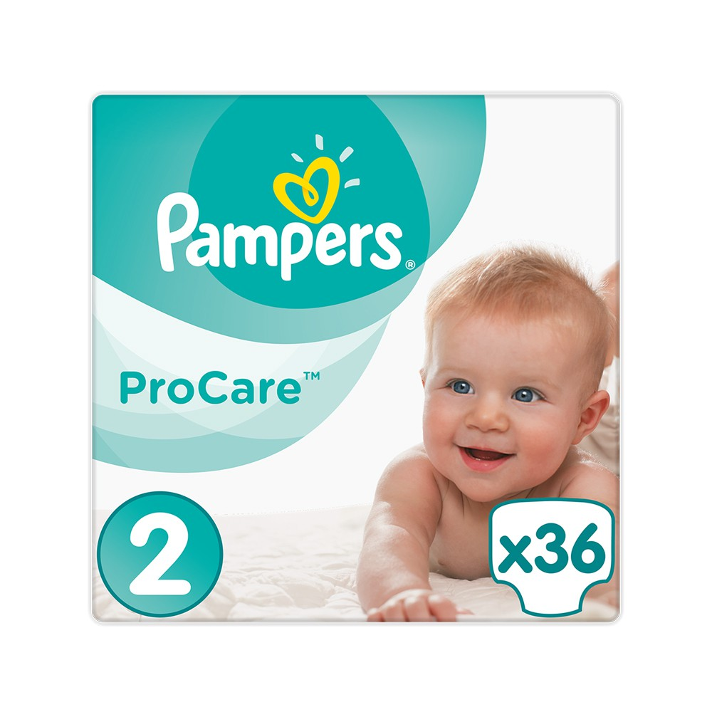 132028 pampers   procare premium protection no2  3 6kg    36