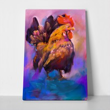 Painting beautiful rooster 273864092 a