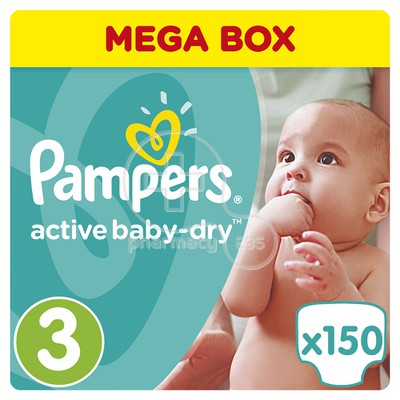 PAMPERS - MEGA BOX Active Baby Dry No3 (5-9kg) - 150 πάνες