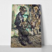 Street musician playing on saxophone 425856496 a