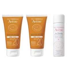 Avene  Creme Spf 20, 2x 50ml + Δώρο Avene Eau Thermale Spring Water 50ml
