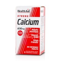 HEALTH AID - Calcium Strong 600mg - 60chew. tabs