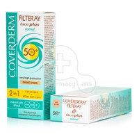 COVERDERM - FILTERAY Face Plus Normal Tinted Cream SPF50+ (Soft Brown) - 50ml