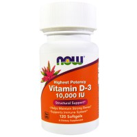 NOW VITAMIN D-3 10000IU 120SOFTGELS