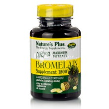 Natures Plus Ultra Bromelain 1500mg - Πέψη, 60tabs