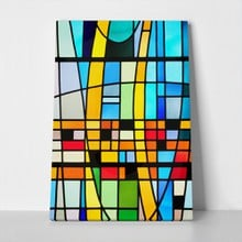 Modern stained glass window 177260570 a