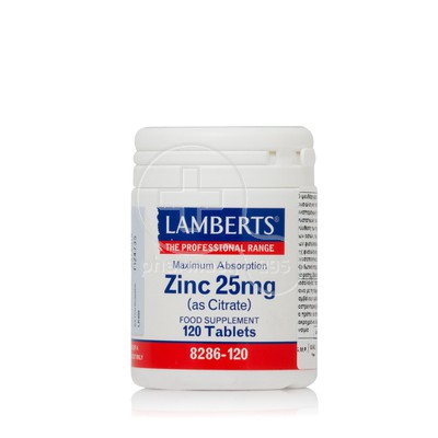 LAMBERTS - Zinc (as Citrate) 25mg - 120tabs