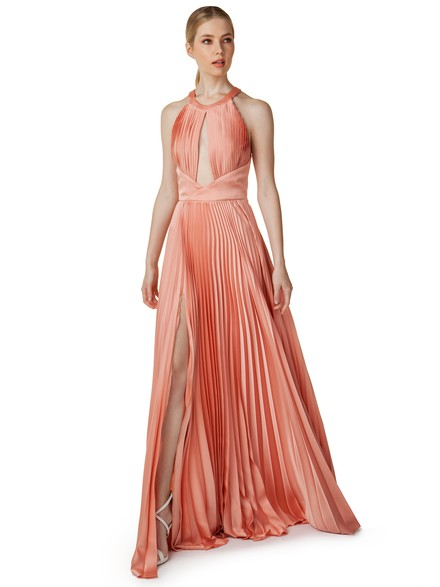 Heritage: Maxi pleated dress