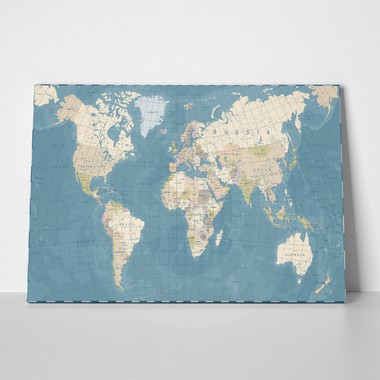 Detailed vintage world map 665429167 a