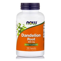 Now Dandelion Root 500 mg, 100 caps