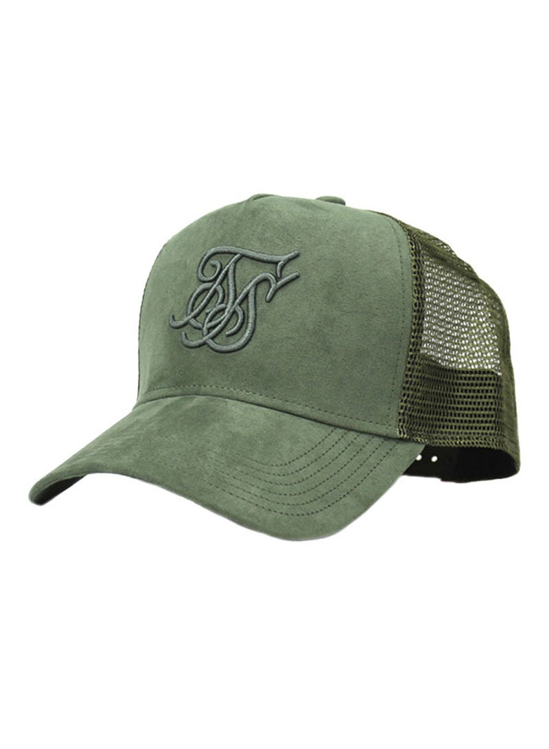 SikSilk Suede Bent Peak Trucker – Khaki