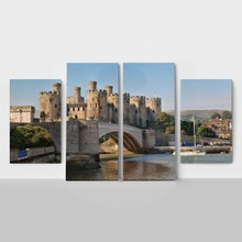 Famous conwy castle in wales  united kingdom  series of walesh