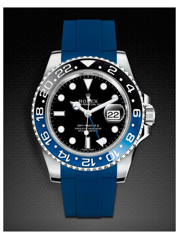 Rubber B For Rolex GMT Master II Steel