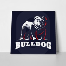 Bulldog illustration emblem 551827357 a