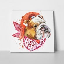 Watercolor puppy bulldog 360652859 a