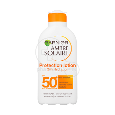 GARNIER - AMBRE SOLAIRE Sun Protection Lotion 24h Hydration SPF50+ - 200ml