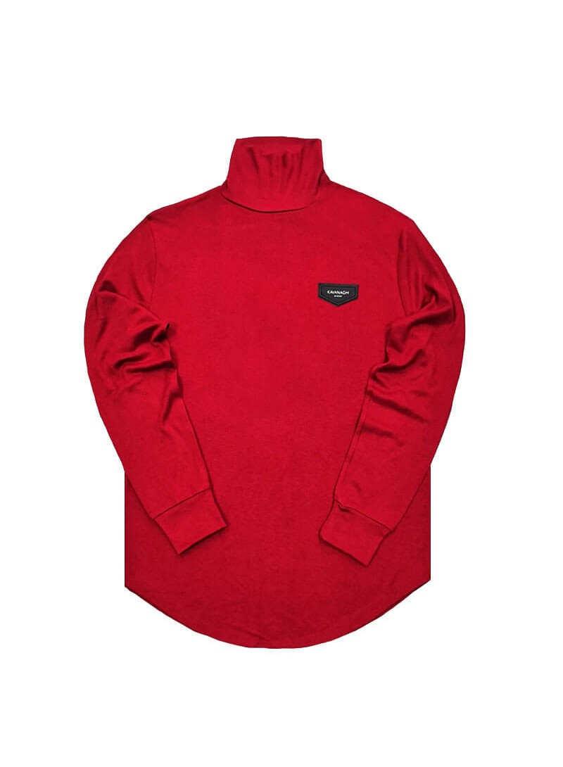 Gianni Kavanagh Burgundy Turtleneck Jumper