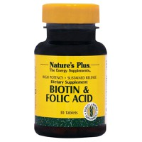 NATURE`S PLUS BIOTIN/FOLIC ACID S/R TABLETS 30