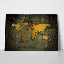 Golden world map a