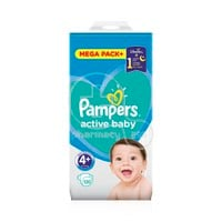 PAMPERS - MEGA PACK+ Active Baby Νο4+ (10-15kg) - 120 πάνες