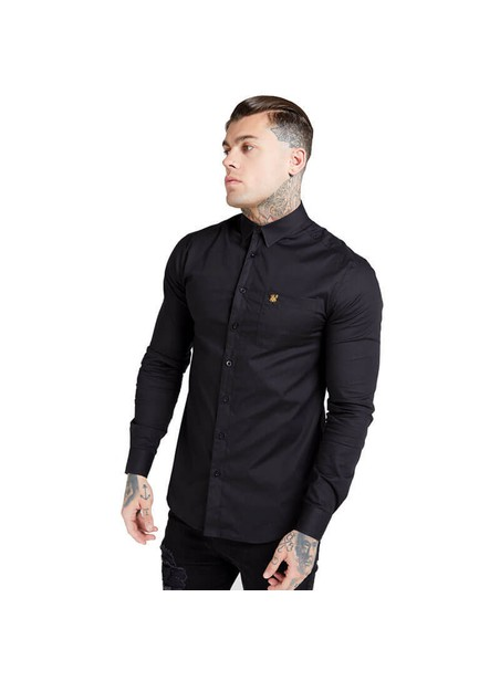 SikSilk  L/S Smart Shirt - Black