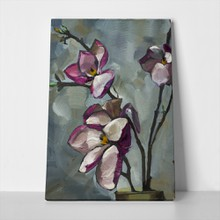 Oil painting still life purple magnolia 344717420 a