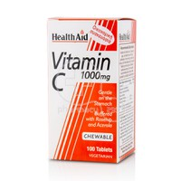 HEALTH AID - Vitamin C 1000mg - 100chew.tabs