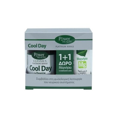 Power Health - Classics Platinum Cool Day L-Theanine 30Tabs & ΔΩΡΟ Μαγνήσιο 10Αναβράζοντα