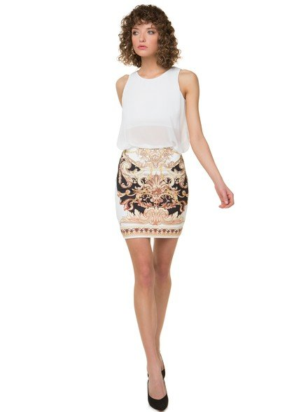 Printed bodycon skirt
