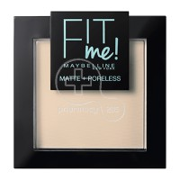 MAYBELLINE - FIT ME Matte & Poreless Powder No104 (Soft Ivory) - 9gr