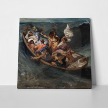 Delacroix christ on the sea of galilee3