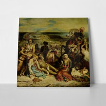Scenes from the massacre of chios delacroix a