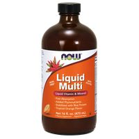 NOW LIQUID MULTI VITAMIN , IRON FREE (VEGAN) 473ML