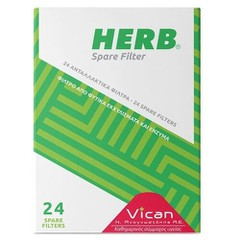 Vican Herb Spare Filter - Ανταλλακτικά Φίλτρα Πίπας, 24 τεμάχια
