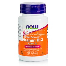 Now Vitamin D3 2.000 IU, 120softgels