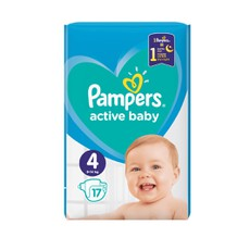 Pampers Active Baby No4 9-14Kg 17 Τμχ.